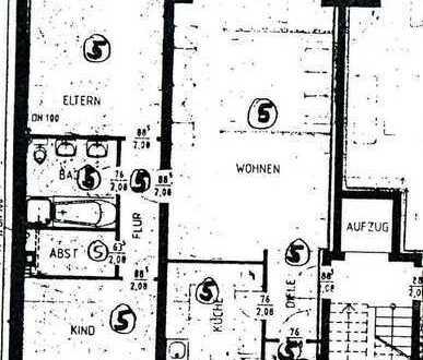 Gepflegte helle und geräumige 3-Zimmer-Hochparterre-Wohnung mit Balkon in Kerpen-Horrem
