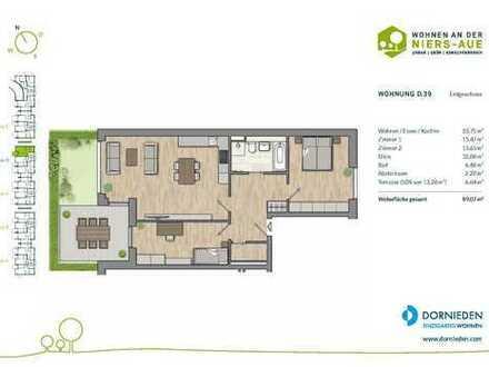 3-Zimmer-Erdgeschosswohnung mit Sonnenterrasse in Citynähe