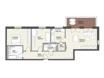 1. Obergeschoss mit Balkon & Lift - Wohnung A3