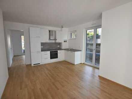 ** Stilvolle Neubauwohnung mit EBK, Fußbodenheizung, Parkettboden und Terrasse **