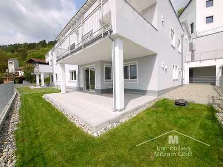 Neubau: Traumhafte 3-Zimmer-Erdgeschoss-Wohnung mit Blick über Beilngries und das Altmühltal