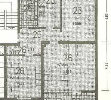 Stadtnahe attraktive 3-Zimmer-Wohnung zur Miete auf der Hambacher Höhe in Neustadt/W.einstr.