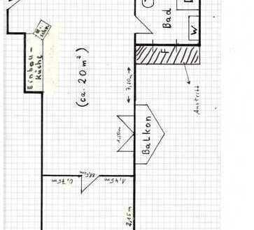 Gepflegte 2-Zimmer-Apartmentwohnung mit EBK in Dortmund