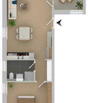 WE04: 2 Zimmer mit Loggia