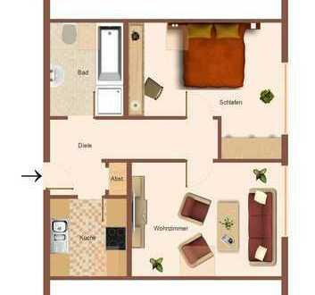 2 Zimmer-Wohnung im Dachgeschoss