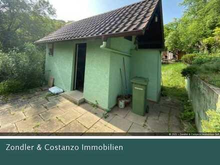 Schönes Gartengrundstück in idyllischer Lage * gemauertes Häuschen * große Terrasse * gepflegt!