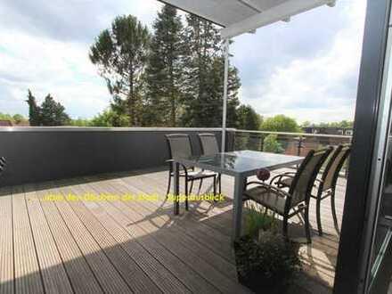 Penthaus-Wohnung - Modern mit großer Sonnen-Dachterrasse zum Süden in bester City-Wohnlage