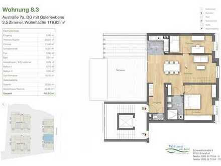 Diese 4-Zimmer-Mainsonettewohnung wird Sie begeistern!