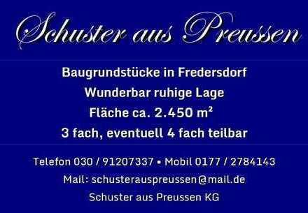 Schuster aus Preussen - Fredersdorf - großes, teilbares Baugrundstück mit ca. 2.450 m² in ruhiger...