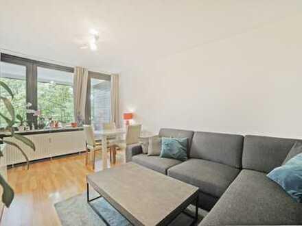 Ruhige 2-Zimmer Wohnung, großzügiger Balkon mit Blick ins Grüne