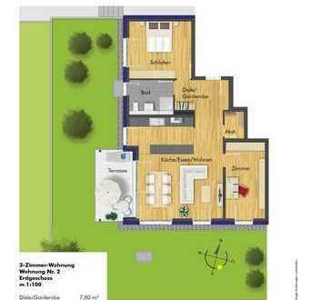 Großzügige 3 Zimmer Erdgeschoss-Wohnung in kleiner anspruchsvoller Wohnanlage!