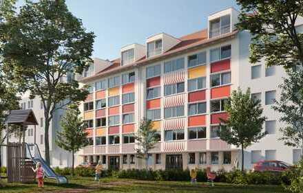 Provisionsfreie, neu renovierte und freie 3 Zi-Whg mit Aussicht ins Grüne am Melachtonplatz.