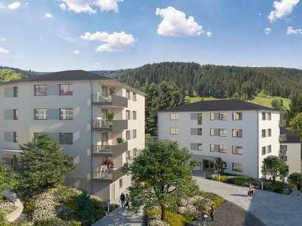Direkt im Zentrum mit der Natur vor der Tür! Moderne 2-Zimmer Wohnung mit West-Terrasse