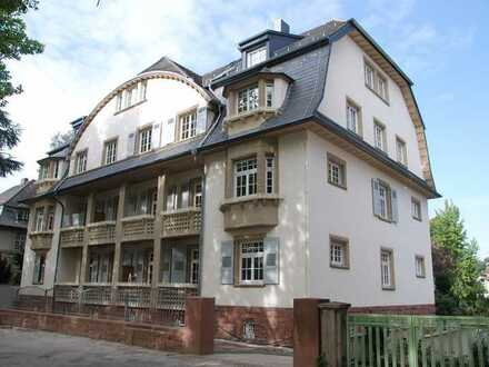 2-Zimmer-Wohnung in denkmalschutzgeschützter Villa direkt am Luisenpark und Neckar – 2017 saniert
