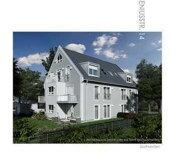 Neubau 1.10.: 3 Zi. + Hobbyraum mit SW-Privatgarten 290m², S2