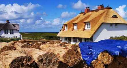 Exklusive Hausteile unter Reet in einmaliger 1. Meereslinie von Wenningstedt