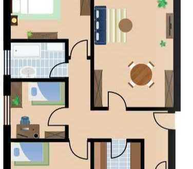 Ansprechende 4-Zimmer-Wohnung mit Balkon in Rodgau