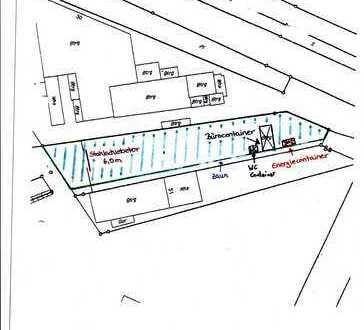 Industriegebiet. Gewerbliche Freifläche mit Bürocontainer, Küche etc. Mannheim-Wohlgelegen