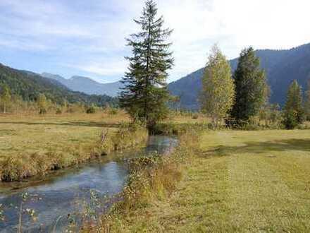 Interessantes landwirtschaftliches Grundstück in der Nähe von Oberammergau