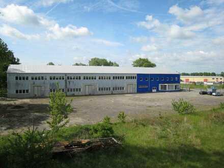 ! Lagerhalle mit Außenflächen im Gewerbegebiet in Anklam ! Provisionsfrei !