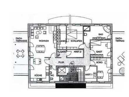 Freundliche 4-Zimmer-Penthouse-Wohnung mit Balkon und EBK in Oldenburg
