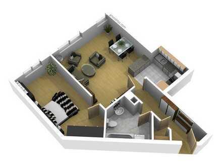 Eigentumswohnung im 1.OG / 65 qm Wohnfläche / 2-Zimmer