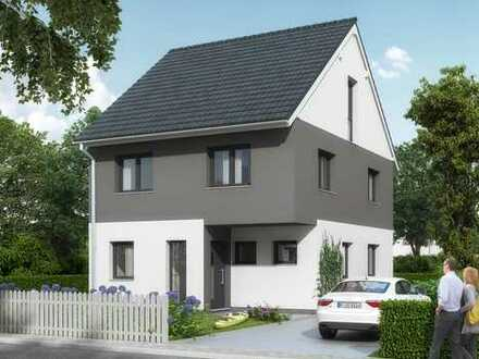 KFW55 - DHH in Massivbauweise - inkl. Keller und Garage!