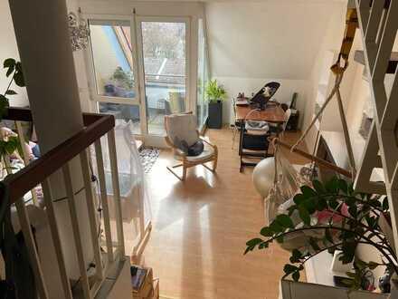 Wunderschöne 3-Zimmer-Wohnung in Split-Level-Bauweise mit Loggia nach Süden in KA-Grötzingen