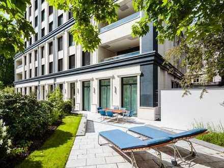 Frankfurt-Westend: 4-5 ZW - 223 m² Wfl. - eigener Garten - Bulthaup/Gaggenau-Küche - Fitnessraum