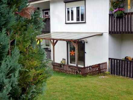 Günstige, geräumige und gepflegte 1-Zimmer-Wohnung mit kleiner Terasse in Martinroda bei Ilmenau