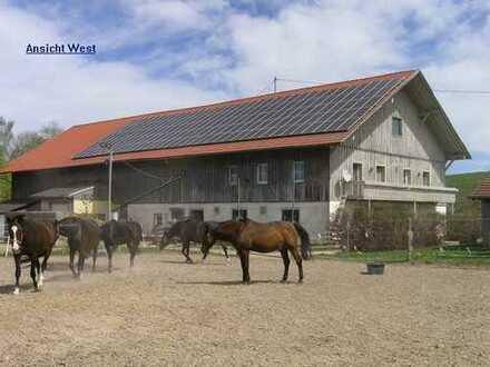 Bauernhof mit Reitplatz/Pferdeboxen in Fastalleinlage nördlich von Kempten im schönen Oberallgäu