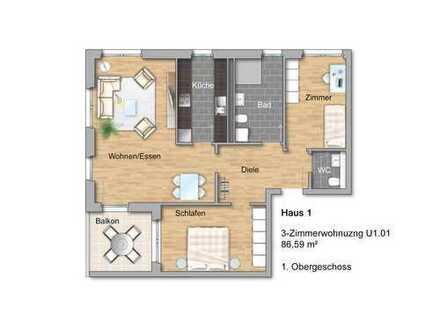 Moderne 3-Zimmer-Eigentumswohnung in der Neuen Ortsmitte