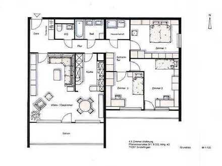 4,5 Zi. Whg. im Dachgeschoss - Große Wohnung mit toller Aussicht!