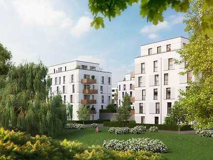 PANDION VILLE - Attraktive 3-Zimmer-Wohnung mit großem Balkon und Garten in grüner Umgebung
