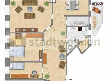 Zentrumsnahe Stadtwohnung für WG oder Familie mit Balkon und Tageslichtbad