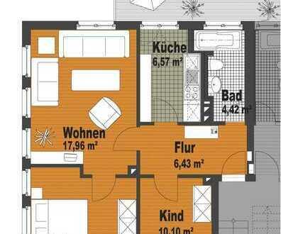 3 Zimmer Balkon saniert