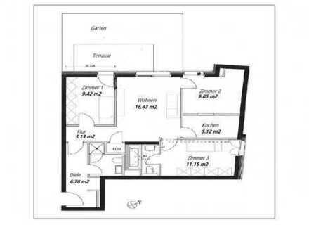 Erstbezug: ansprechende 4-Zimmer-Wohnung mit Einbauküche und Balkon in Neuhausen, Munich