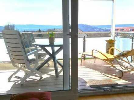Welch herrliche Aussicht !! neuwertige 2 1/2 Zimmer Penthouse Wohnung. Sofort verfügbar !