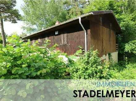 Baugrundstück (mit altem Holzhaus/Abrisshaus) in wunderschöner Ortsrandlage von Wattenheim