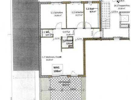 Schöne, barrierefreie 3-Zimmer-Erdgeschoss-Wohnung in Karlsruhe-Wolfartsweier