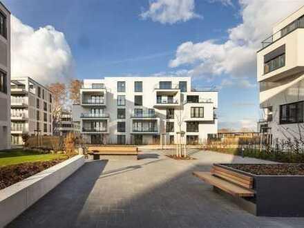 Viel Luft & Licht: urbanes Zuhause mit großer GARTENTERRASSE am Rheinkilometer423.