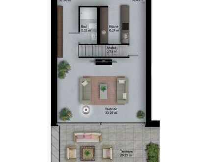 Erstbezug: exklusive 5-Zimmer-Penthouse-Wohnung über 2 Geschosse in Tübingen