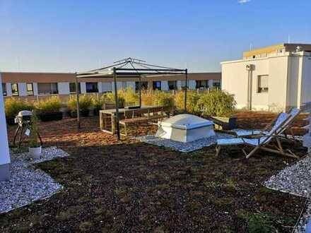 3 Zimmerwohnung mit Dachterrasse und Dachgarten und Alpenblick