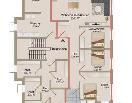 Attraktive 4,5 Zimmer Terrassenwohnung