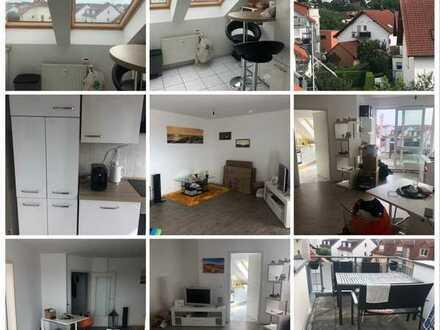 Schöne 2-Zimmer-Dachgeschosswohnung an der Bergstrasse