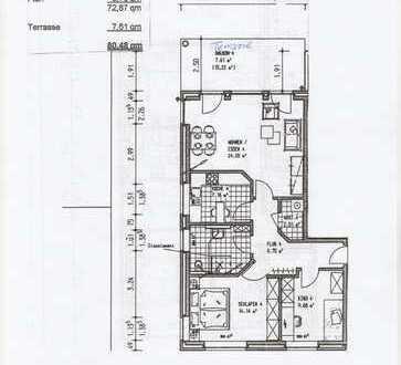 Neuwertige 3-Zimmer-Erdgeschosswohnung mit Terrasse in Oldenburg (Oldenburg)