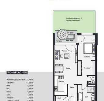2,5 Zimmerwohnung mit Terrasse