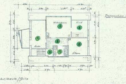 Attraktive 3,5-Zimmer-Dachgeschosswohnung mit Balkon und EBK in Michelbach an der Bilz
