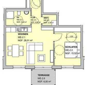 Neubauwohnung im Erdgeschoss