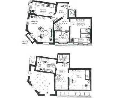Top 4-Raum-Maisonette-Wohnung mit Balkon